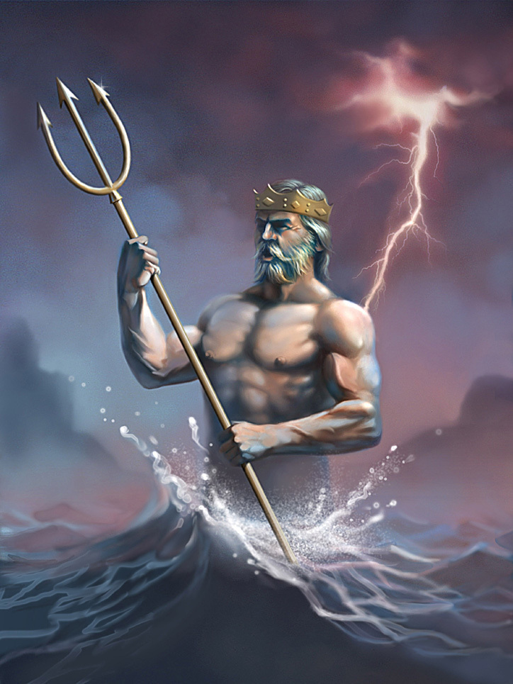 Ancient Greek God Neptune